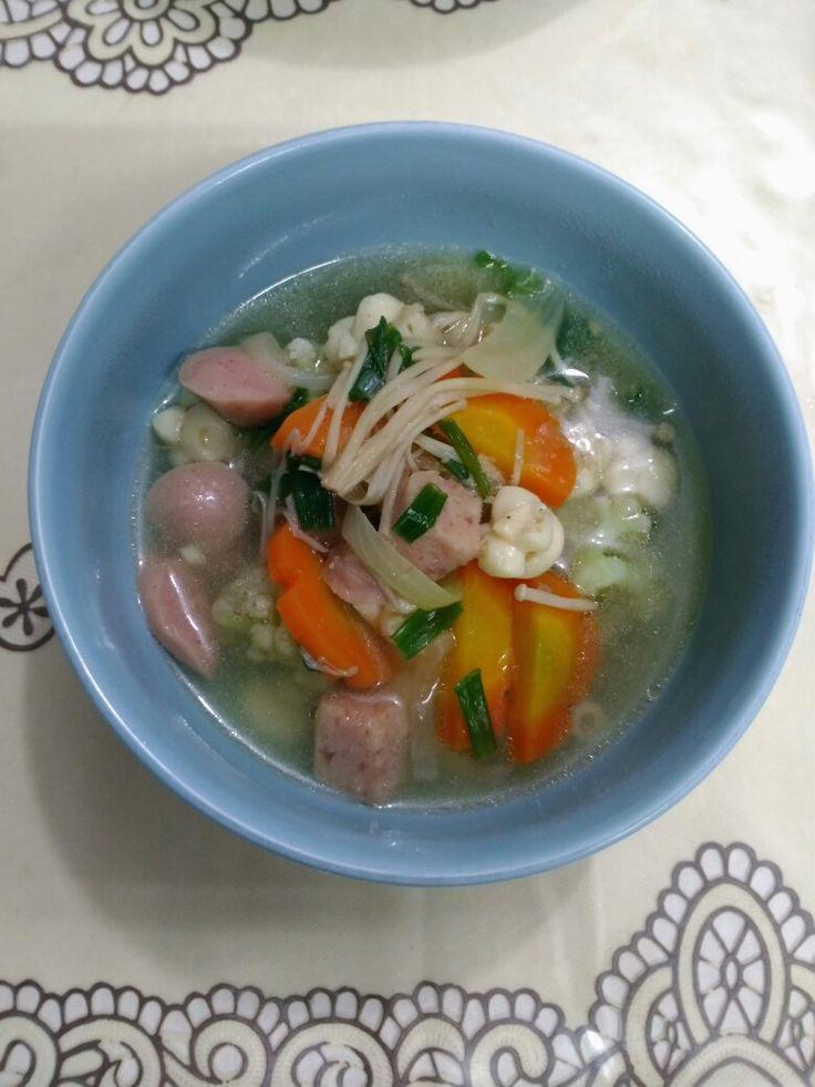Hamen worst soup with enoki