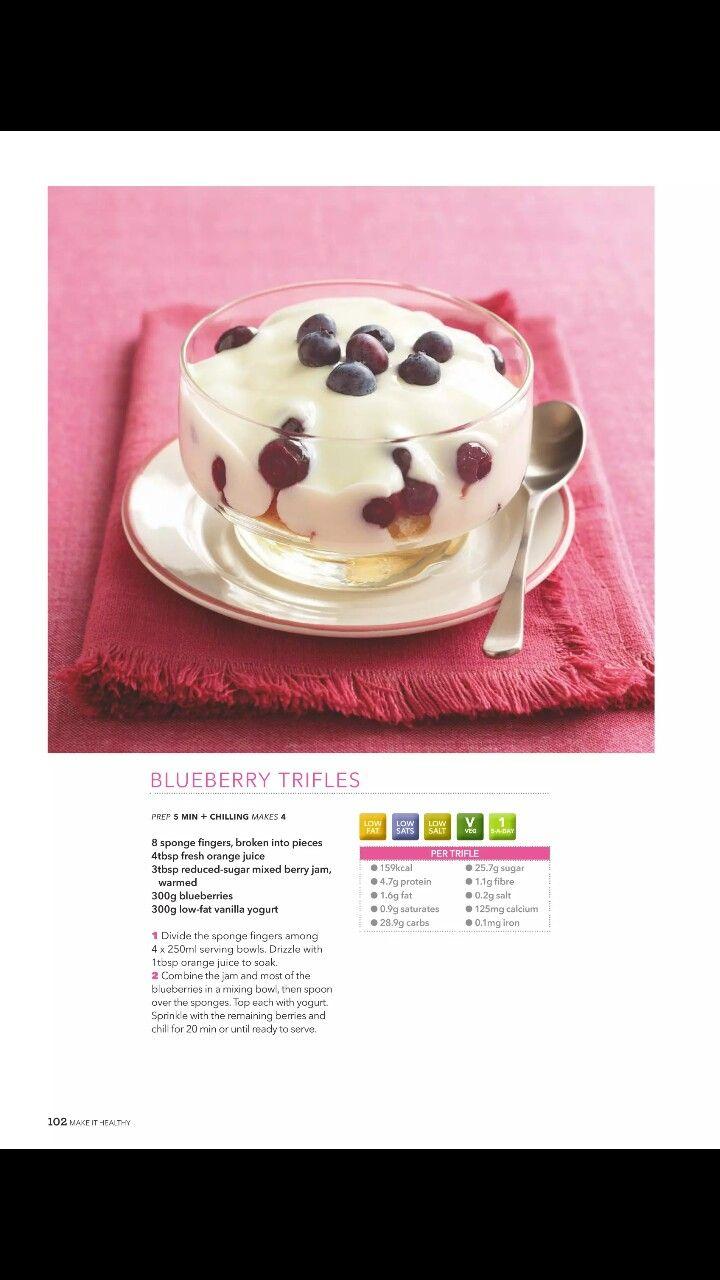 blueberry trifles