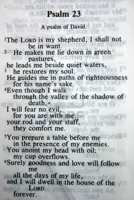 Still want to get a tattoo incorporating Psalm 23.. just have to figure out a design/have someone figure it out for me