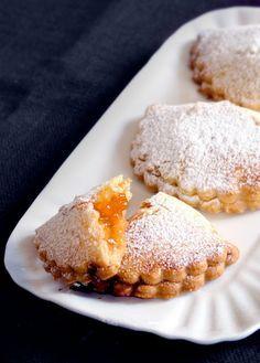 Tortelli di Carnevale al forno con marmellata #ricetta #biscotti