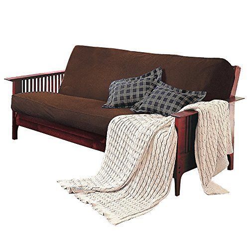 Brushed CottonRich Twill Full Size Futon Cover 6 Deep Futon Mattress cover Futon Slipcover in 3 Colors