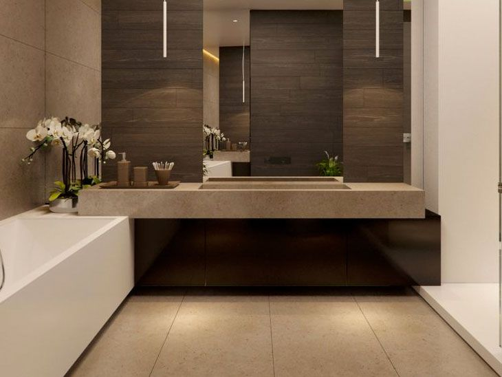 147 mejores im genes sobre ba os bathrooms en pinterest for Interior banos modernos