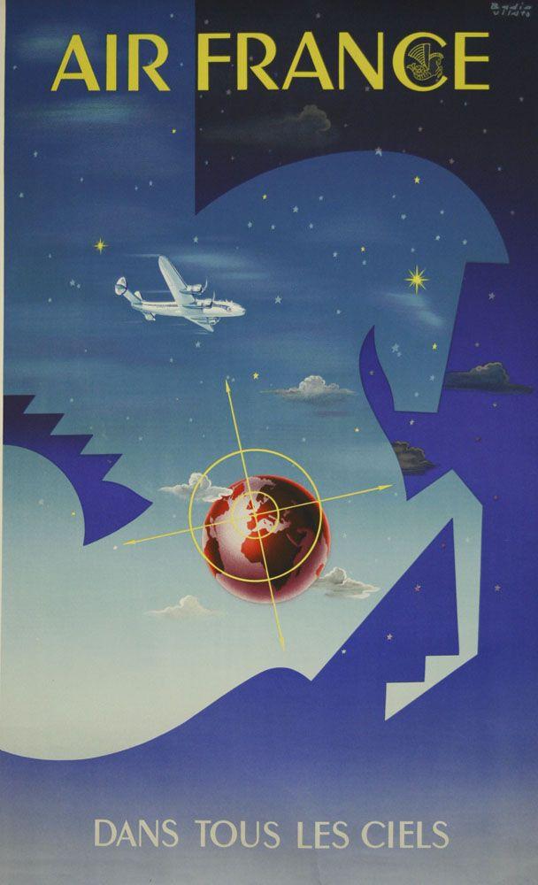 Air France dans tous les ciels. www.galerie-graglia-others.com