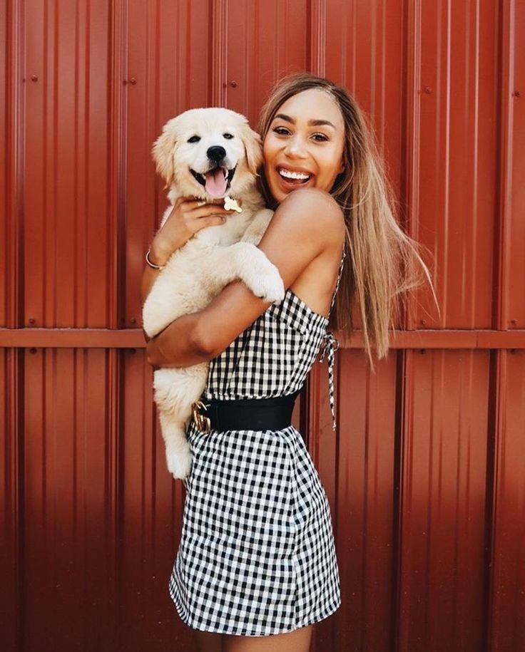 Pinterest: lottiehayy Mylifeaseva - Eva Gutowski - golden retriever puppy - Hanalei - girl and dog