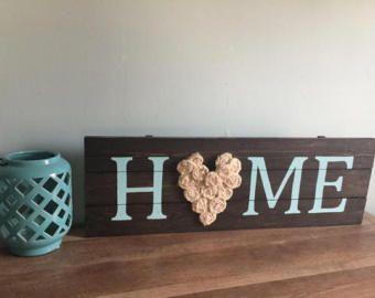 Señal verde azulado casa de arpillera rústica de madera