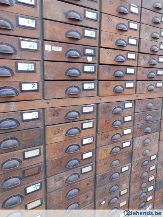 Industriële ladenkast apothekerskast winkelkast vintage - Te koop