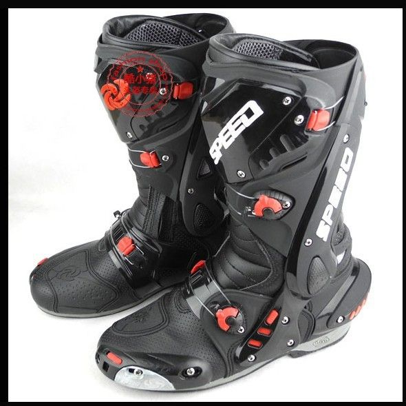 motorcycle boots automobile race shoes /ride boots  high quality boots  cycling boots  black
