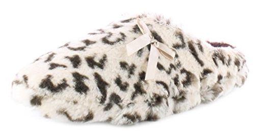 Neu Damen Braun Leopardenmuster Hausschuhe Weicher Pelz - braun/Multi - UK GRÖßEN 3-8 - Braun/Multi, 39 - Hausschuhe für frauen (*Partner-Link)