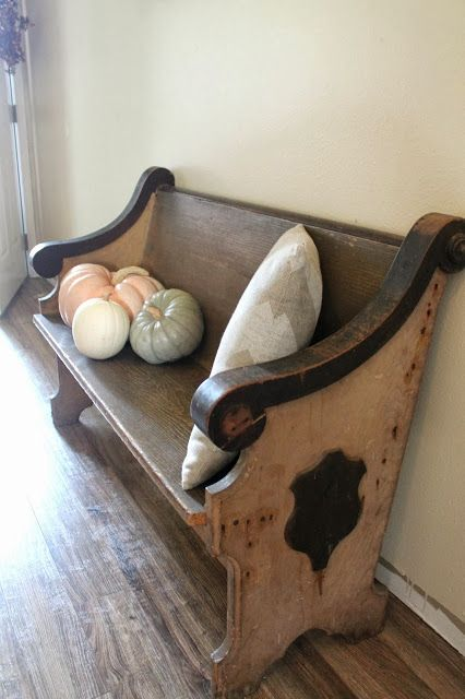 Vintage Church Pew ~ The Fancy Shack