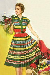 С чем носить платье в стиле 50-х