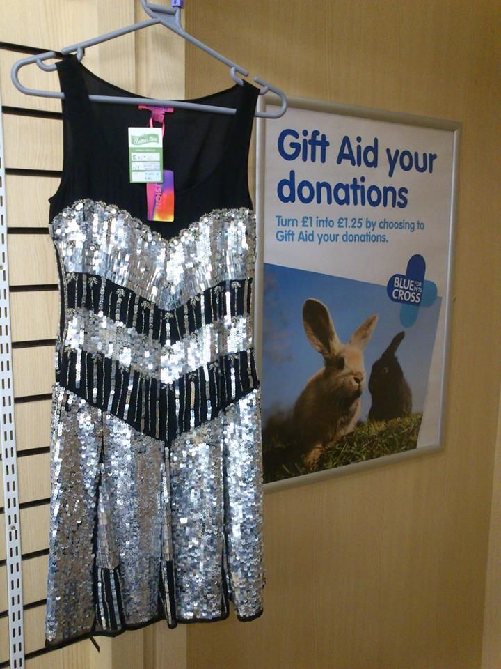 Fabulous sequin party dress from Monsoon Fusion (RRP £150) at the Malvern Blue Cross shop