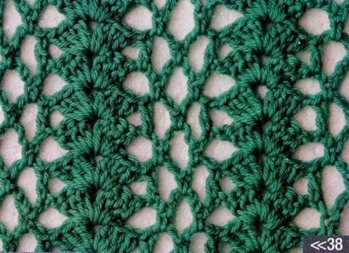 Patron #1196: Punto Calado a Crochet | CTejidas [Crochet y Dos Agujas]