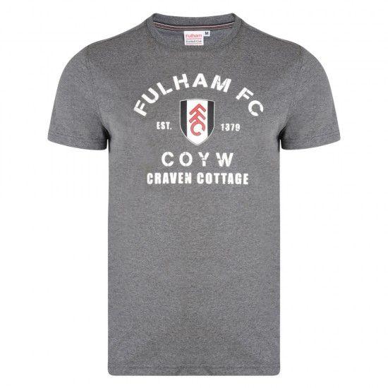Fulham Crackle Print Charcoal Marl Tee