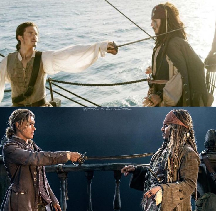 Like father like son...You shouldn't raise weapons against Captain Jack Sparrow