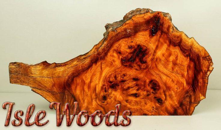 Live Edge Ironwood Burl Exotic Wood Slab Turning Craftwood  IRN669 #Islewoods