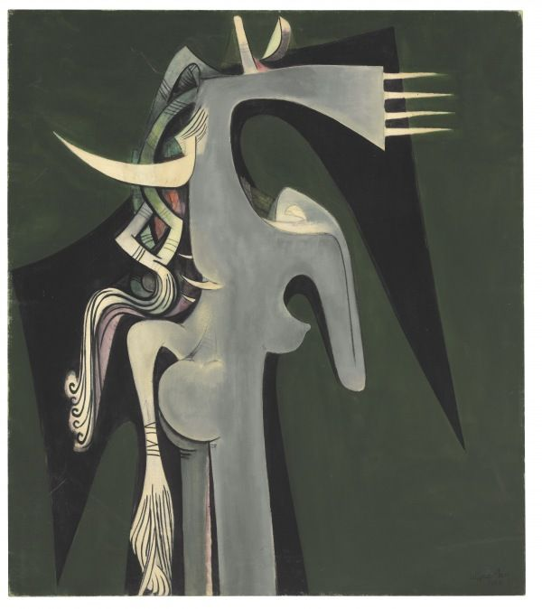 The EY Exhibition: Wifredo Lam, Tate Modern, London, UK ('Horse-headed Woman' 1950, Wifredo Lam, The Rudman Trust © SDO Estate of Wifredo Lam).