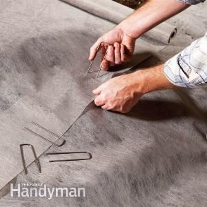 Use Pins and Staples to Prevent Gaps in Your Garden's Landscape Fabric http://www.familyhandyman.com/landscaping/use-pins-and-staples-to-prevent-gaps-in-your-gardens-landscape-fabric/view-all