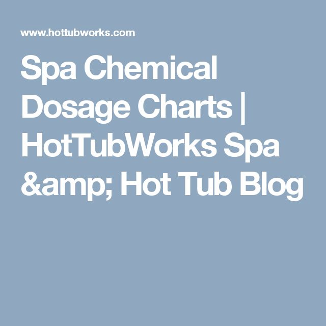 Spa Chemical Dosage Charts | HotTubWorks Spa & Hot Tub Blog