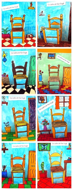 Cadira de Van Gogh.  Esta imagen se puede utilizar en educación infantil para trabajar el arte e incluso los objetos que en ella aparecen.
