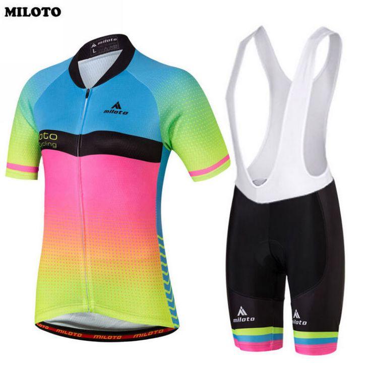 MILOTO Équipe Femmes Vélo Vélos Confortable Jersey Ropa Ciclismo Vélo Vêtements Pad Cuissard Costumes Cyclisme Usure S-4XL