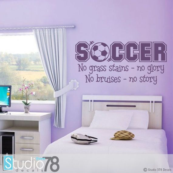 9 best soccer wall decals images on pinterest | bedroom ideas