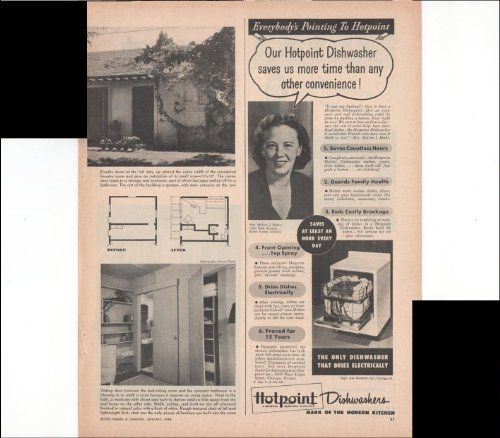 Hotpoint Dishwasher Modern Kitchen Home Clean 1948 Vintage Antique Advertisement ** You can find out more details at the link of the image.