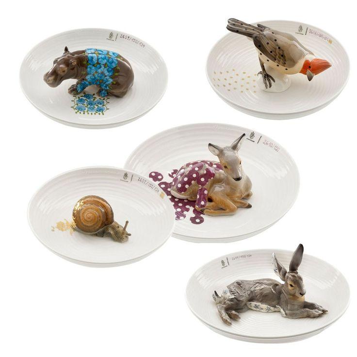 In 2004 ontwierp Hella Jongerius een serie borden voor porseleinfabriek Nymphenburg. Voor deze borden zocht zij vijf dieren uit het 700 tellende dierenarchief van Nymphenburg. De figuratief geschilderde dieren zijn gecombineerd met handgeschilderde abstracte patronen van Nymphenburg die in eerdere series waren gebruikt.