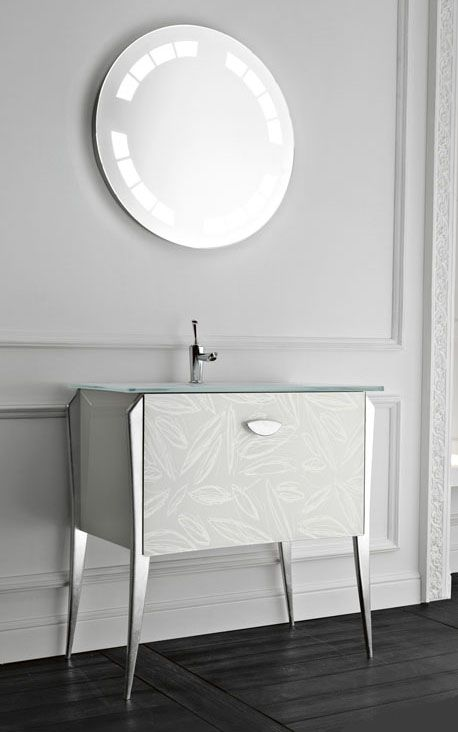 Free Standing Vanity Soft From Qin For Classic Modern Bathroom