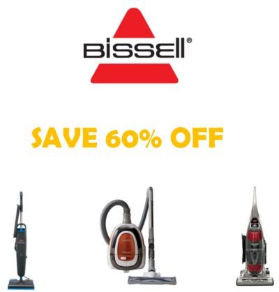 Save 60% on Bissell Vacuums  BISSELL Sale - Up to 60% Off! BISSELL knows that cleaning is part of living well - but not the only part. Practical and innovative, their vacuums a... AFrugalHome.com