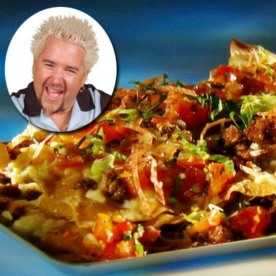 Guy Fieri's--Italian Nachos see drinks and part for more dips    seee drink part more dip see drip part dor dips