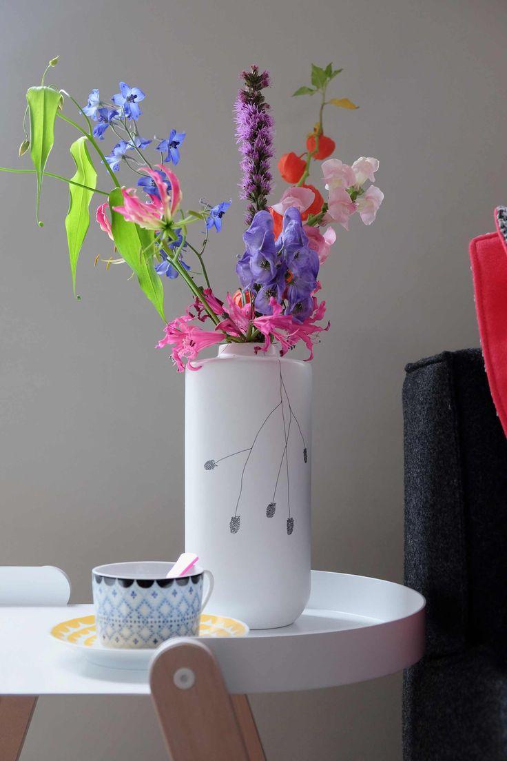 prchtg vaas gekleurde bloemen
