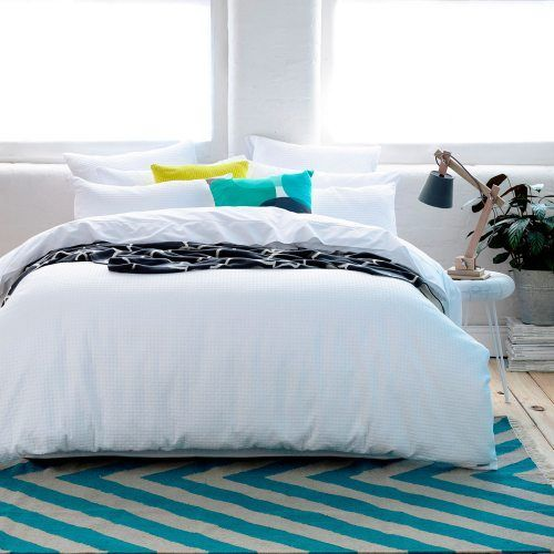 Brooklyn Waffle Quilt Cover Set White