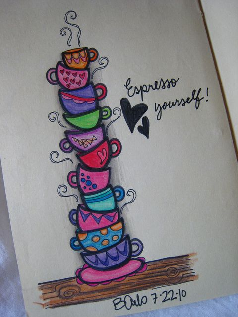 Espresso yourself! | Flickr - Photo Sharing!   A touch of whimsy while expressing my love for coffee?? That's just.... You had me at Hello!! ;) ;)