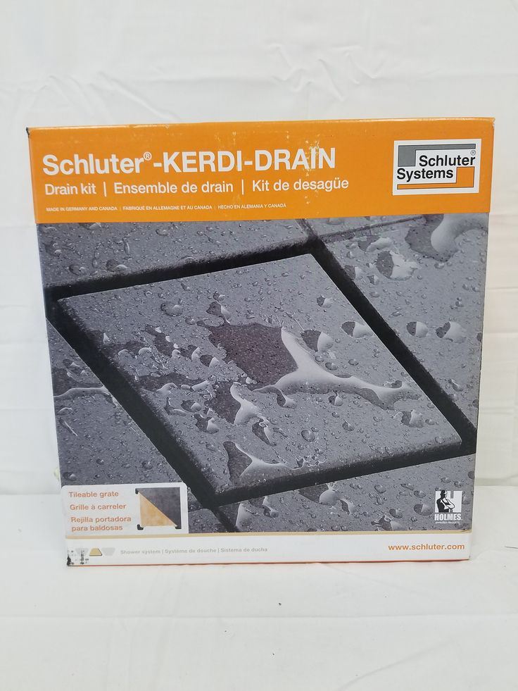 Schluter Kerdi Drain Kit 4 Square Stainless Steel Grate Stainless Steel Flange With 2 Drain Outlet Qty:10