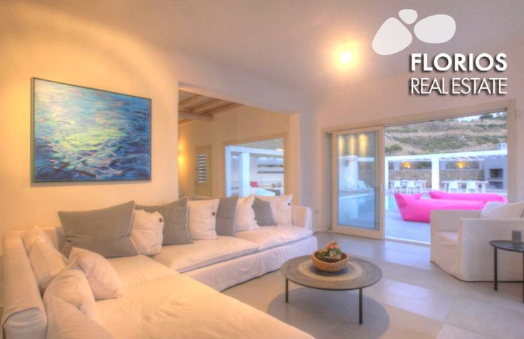 It also has a spacious living room with dining area and a fully equipped kitchen. FMV1174 Villa for Sale on Mykonos island Greece. http://www.florios.gr/en/Villas-For-Sale-Mykonos-Island-Greece.html