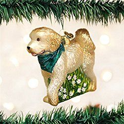 Old World Christmas Doodle Dog Glass Blown Ornament