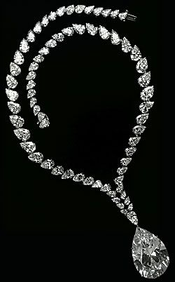 "The Taylor-Burton Diamond, 1969  Her most famous gem was a 69.42-carat pear-shaped diamond that Burton purchased at auction for over 1 million USD. It was originally set in a ring. ""But even for me it was too big,"" Taylor said. ""So we had Cartier design a necklace."""