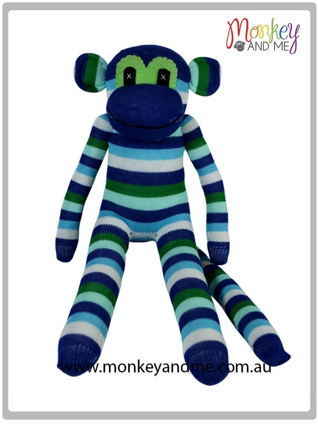 Ben the Sock Monkey Adopt over at monkeyandme.com.au #sockmonkeys #gifts #toys #monkey