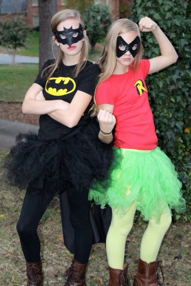 DIY batman and robin costume teen girls