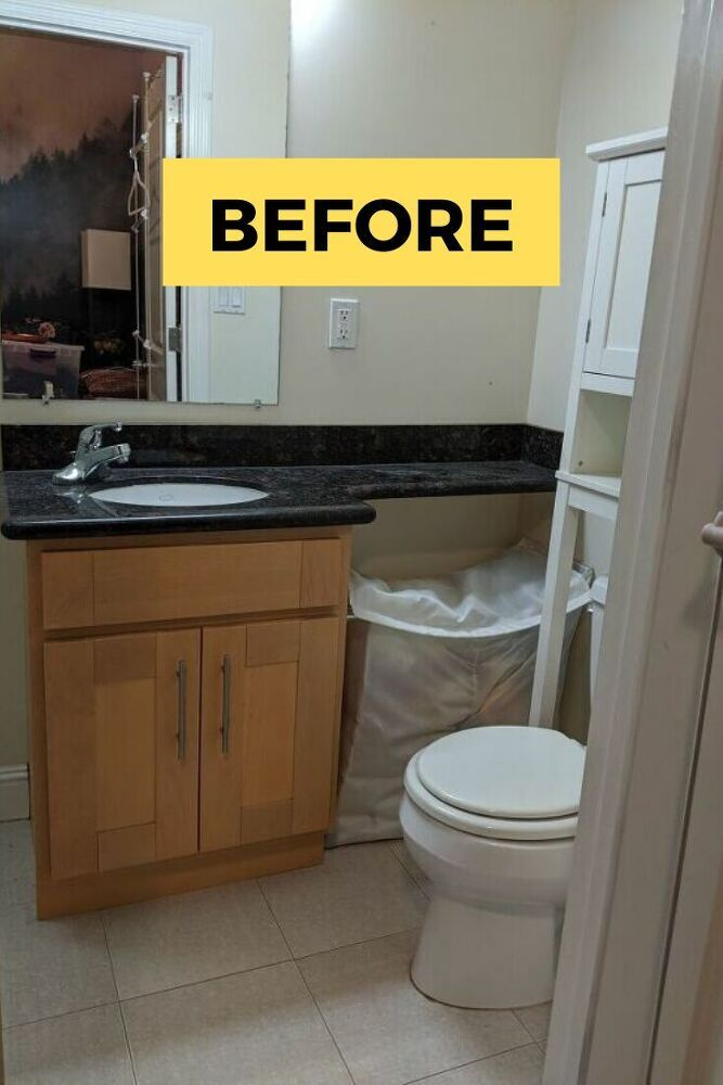 Diy Rental Home Bathroom Makeover On A Budget Small Spaces Idea In 2020 Rental Bathroom Simple Bathroom Decor Update Small Bathroom