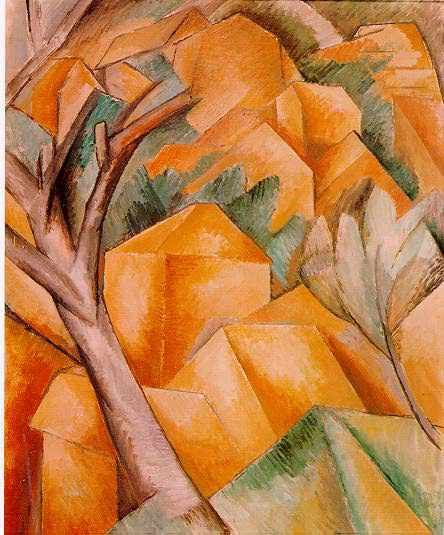 BRAQUE Georges - French (1883-1963) -CUBISM - Houses at L'Estaque (1908)