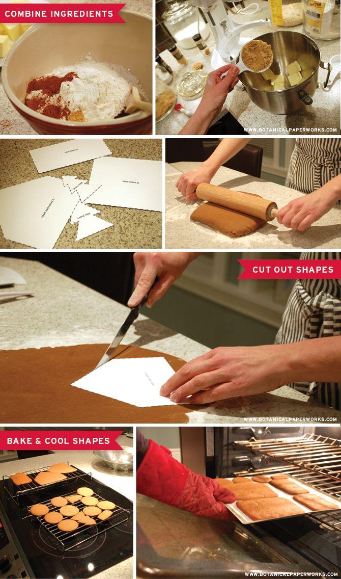 Botanical PaperWorks 12 Weeks of Christmas: Free Printable Gingerbread House Template