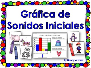 FREEBIE: Spanish version of Initial Sound Graphing Game