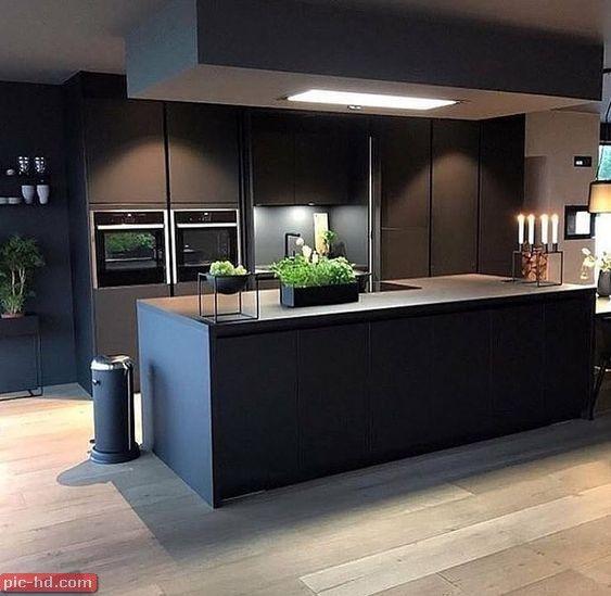صور مطابخ حديثة تصميمات مطابخ حديثة تصميم مطبخ امريكاني Kitchen Decor Grey Kitchen Design Grey Kitchen Designs