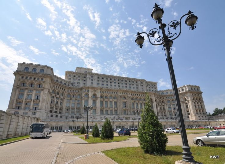The huge Palace of the People, Bucharest, Romania