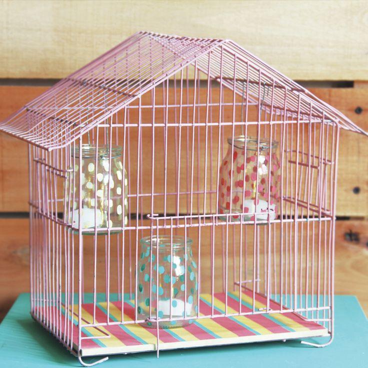 Jaula home deco exteriores velas decorative cage