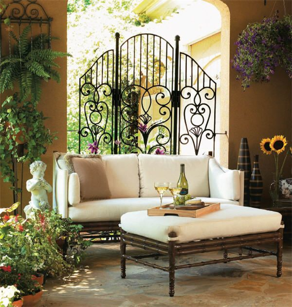 17 Best Images About Wrought Iron Furniture On Pinterest