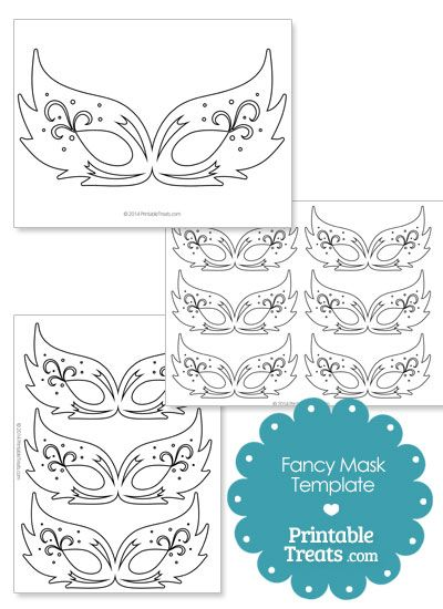 Fancy Feathery Masquerade Mask Template Party ideas Masquerade