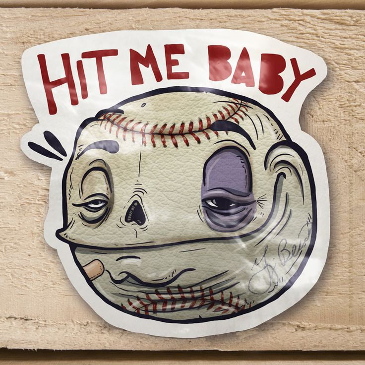 HIT ME BABY !!!!!!!  Stickers Guacala