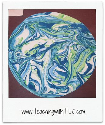 Teaching with TLC: Create marbled eggs with shaving cream!